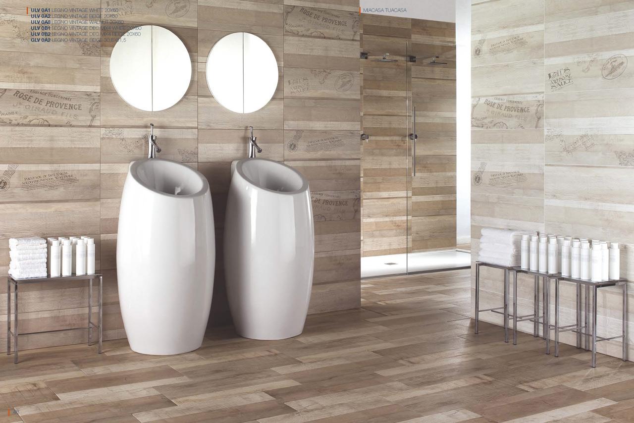 Rivestimento legno vintage wall una collezione ceramiche